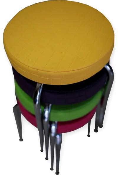 Özçelik Tabure Seti - 4 Adet (Renkli)