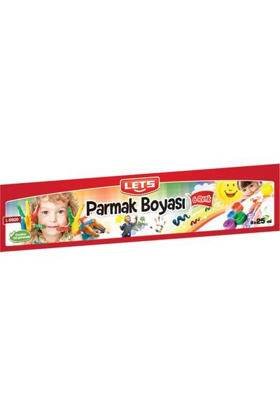 Lets Parmak Boya 25Mg 6 Renk