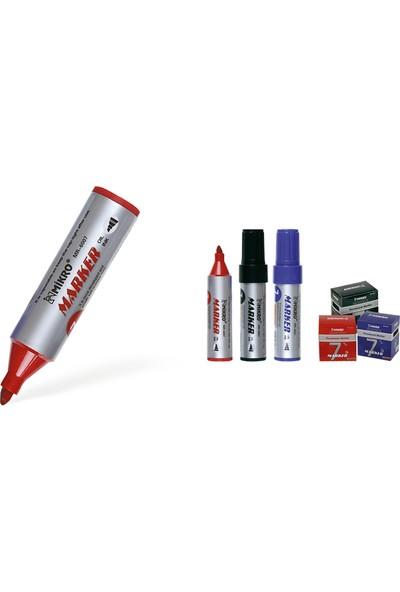 Mikro Markör Jumbo 7Mm Kırmızı 6007