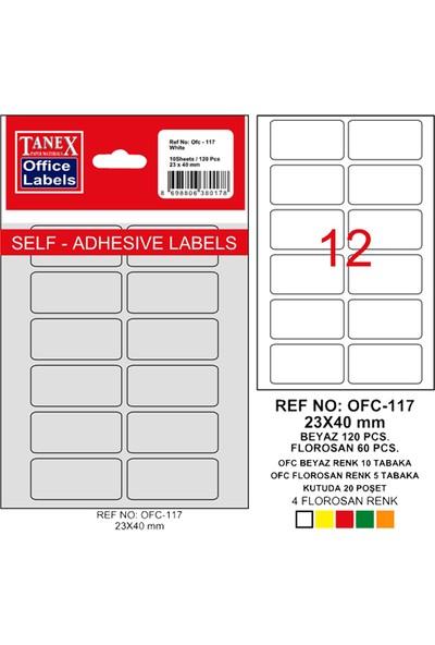 Tanex Ofis Etiketi Ofc-117 Beyaz
