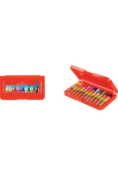 Faber-Castell Pastel Boya 12 Renk Altıgen Plastik Kutu