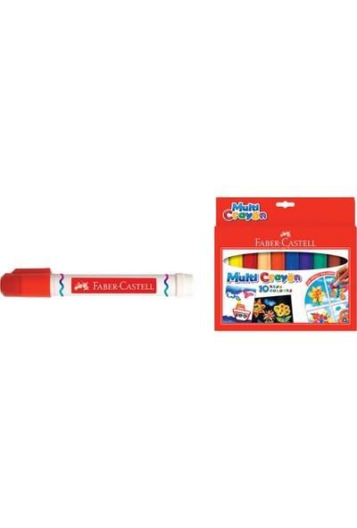 Faber Pastel Boya 10 Renk Multi Crayon