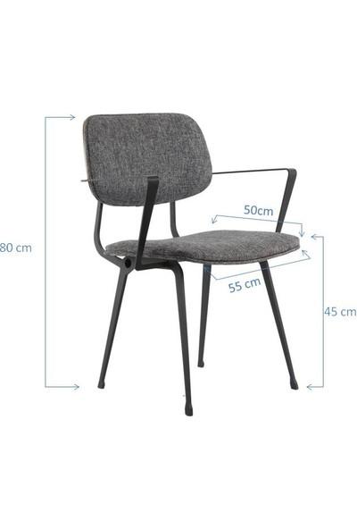 SZN Wood Sandalye Ahrent Metal Ayak Poso