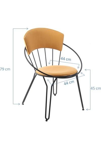 SZN Wood Sandalye İstanbul Metal Ayak Gaia