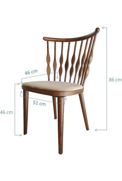 SZN Wood Sandalye Schneider Ahşap Ayak