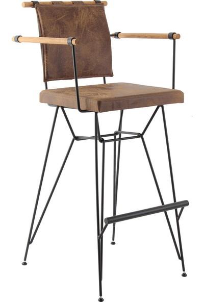Ak Sandalye Bar Sandalyesi Penyez Ahşap