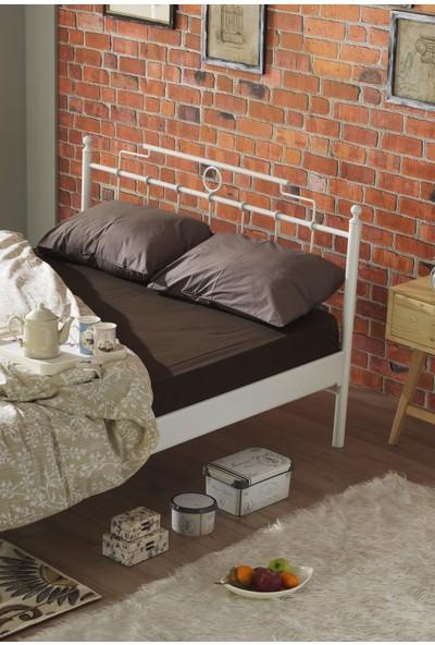 Unimet Hatkus Tek Kişilik Ferforje Metal Karyola 120x200 (Beyaz)