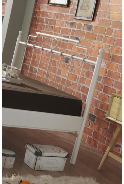 Unimet Hatkus-S Çift Kişilik Ferforje Metal Karyola 160x200 (Beyaz)