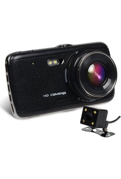Solaner Sl90 Full Hd 1080P Çift Kamera Araç İçi Güvenlik Kamerası