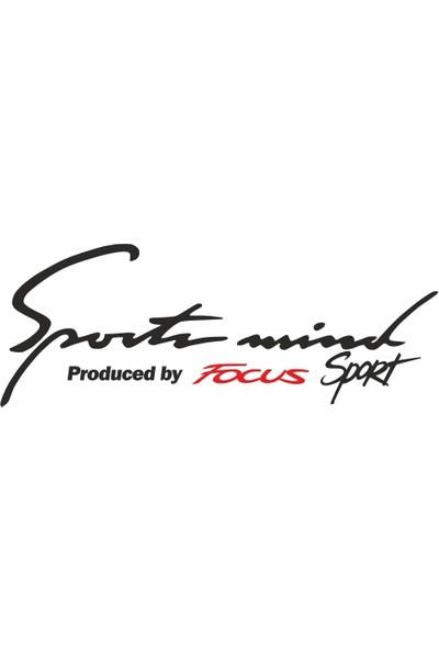 Otografik - Ford Focus Sports Mind Oto Sticker 30 cm x 11 cm Siyah