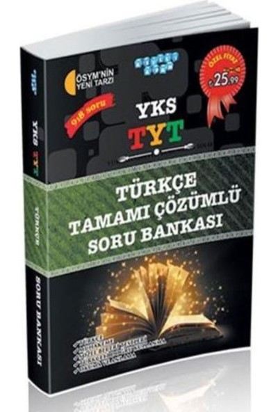 Akıllı Adam Yks Tyt Türkçe Tamamı Çözümlü Soru Bankası 1. Oturum