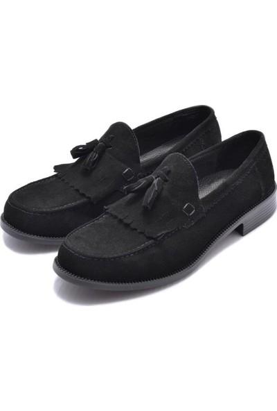 Corcuk Siyah Süet Erkek Ayakkabı