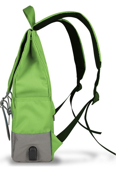 My Valice Smart Bag CANDY Usb Şarj Girişli Akıllı Sırt Çantası Yeşil