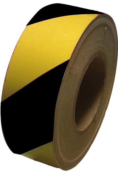 Reflektif Bant (Sarı-Siyah) (10 Cm X 46 Mt)
