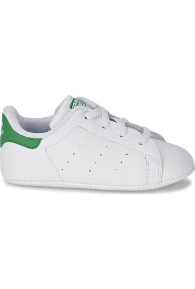 adidas Beyaz Bebek ilk Adım Ayakkabısı Spor B24101 Stan Smith Crib