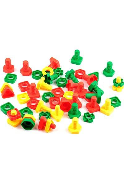 Hi-Q Toys Geometrik Somun Civata (54 Parça)