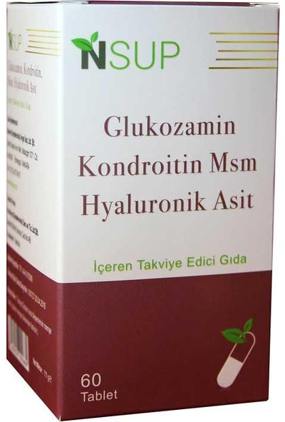 Nsup Glucosamine Chondroitin Msm Hyaluronic Acid 60 Tablet