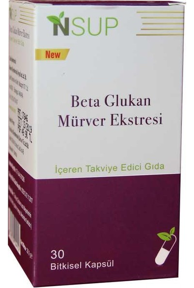Nsup Beta Glukan Mürver Ekstresi 30 Kapsül