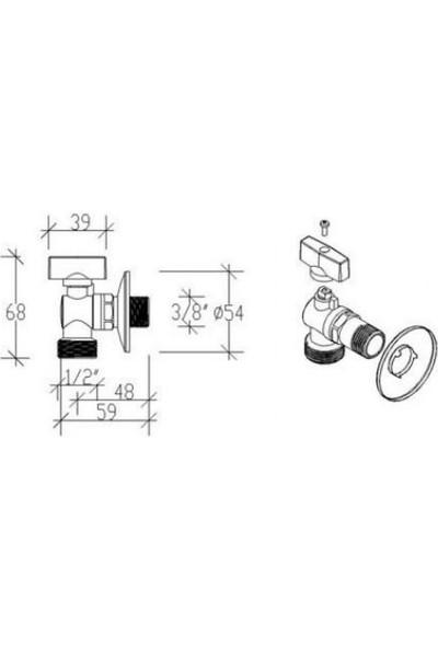 Tema 2 Adet Çamaşır Makinesi Musluğu 69120