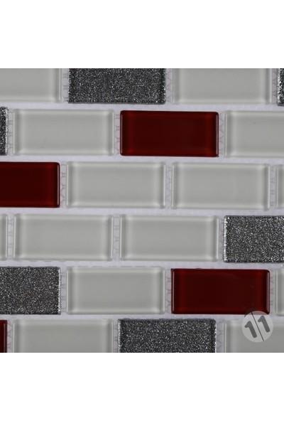 Mcm Mutfak Tezgah Arası Kristal Cam Mozaik Mp 445