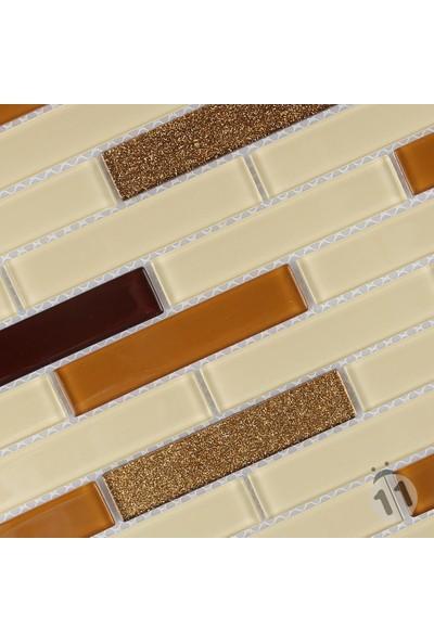 Mcm Mutfak Tezgah Arası Kristal Cam Mozaik Mp 473