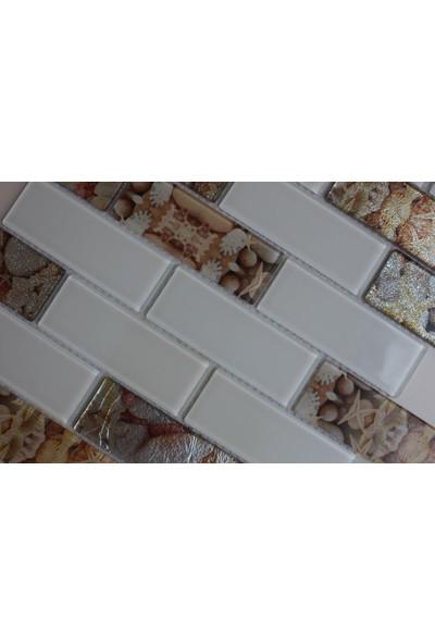 Mcm Mutfak Tezgah Arası Kristal Cam Mozaik Mp 750