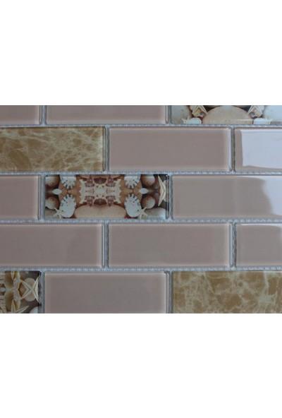 Mcm Mutfak Tezgah Arası Kristal Cam Mozaik Mp 751