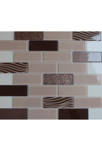 Mcm Mutfak Tezgah Arası Kristal Cam Mozaik Mp 753