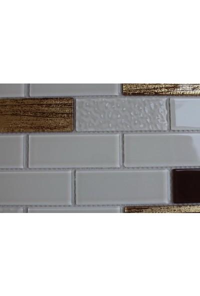 Mcm Mutfak Tezgah Arası Kristal Cam Mozaik Mp 755