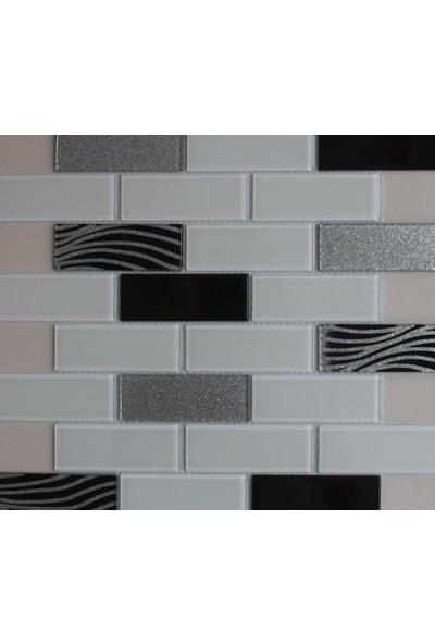 Mcm Mutfak Tezgah Arası Kristal Cam Mozaik Mp 757
