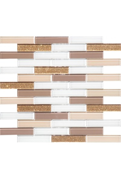 Mcm Mutfak Tezgah Arası Kristal Cam Mozaik Mp 921