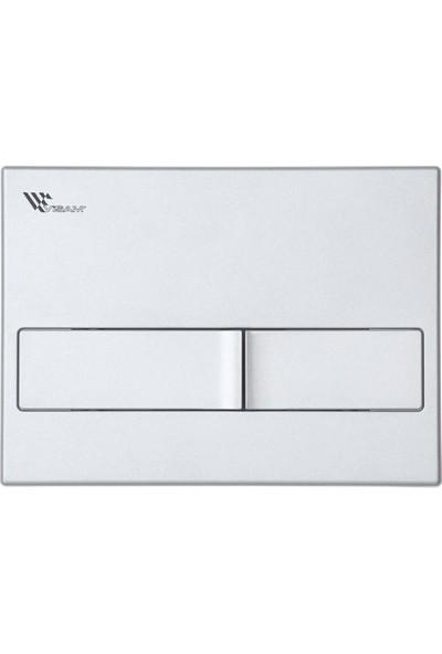 Visam 3/6 Slim80 Hela Taşı 2 Kademeli Gömme Rezervuar