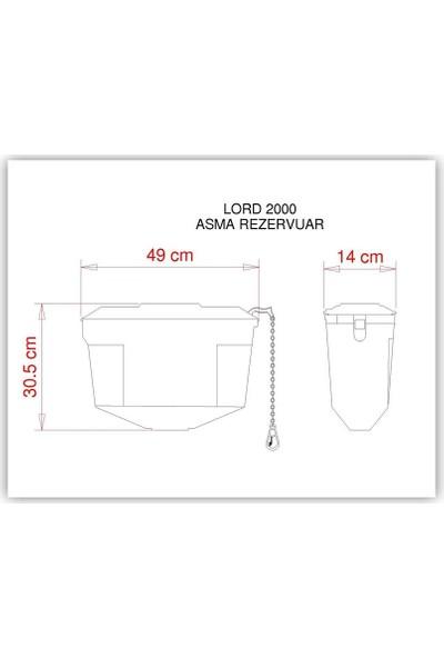 Visam Lord 2000 Asma Rezervuar - 450-001 -Zincirli- Dar-Plastik