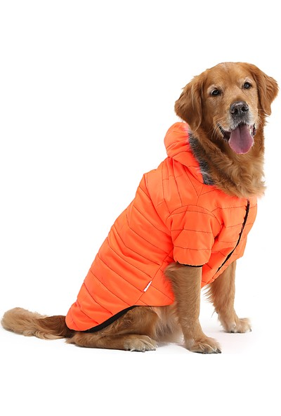 Dogi Dog Büyük Irk Neon Oranj Puf Köpek Montu