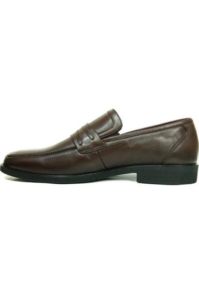 Burç 881 Kahverengi Bağcıksız Erkek Ayakkabı
