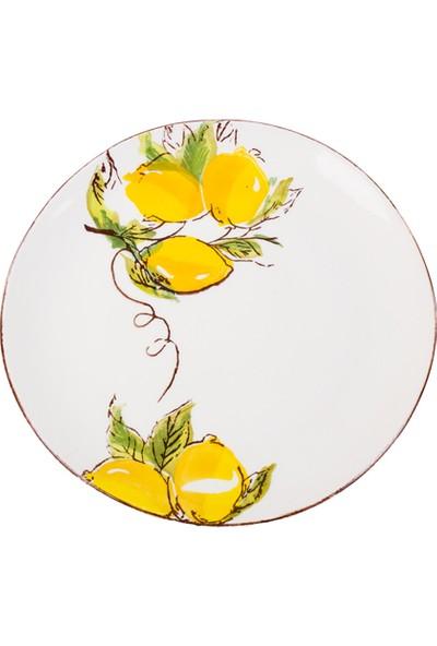 LoveQ Limon Desenli Seramik Tabak 26,5 Cm