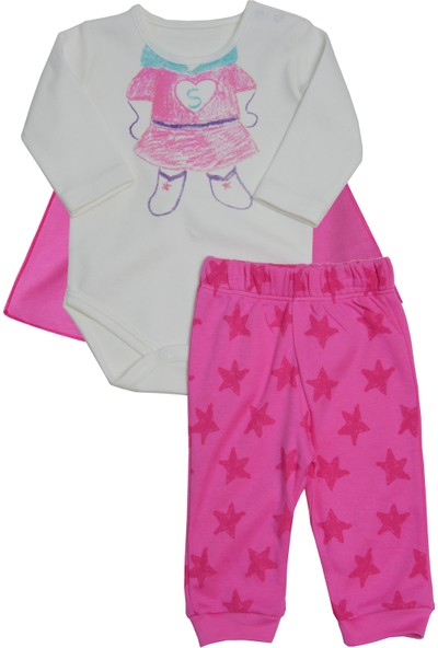 Baby Corner 3'lü Pelerinli Set - Super Girl