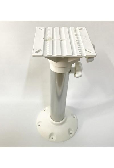 Tekne Koltuk Ayağı Teleskopik - Beyaz Renk