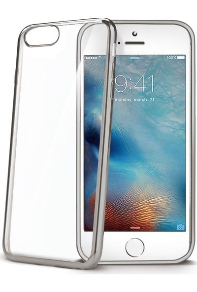 Celly Laser Cover iPhone 7 Gümüş Kılıf -LASER800SV