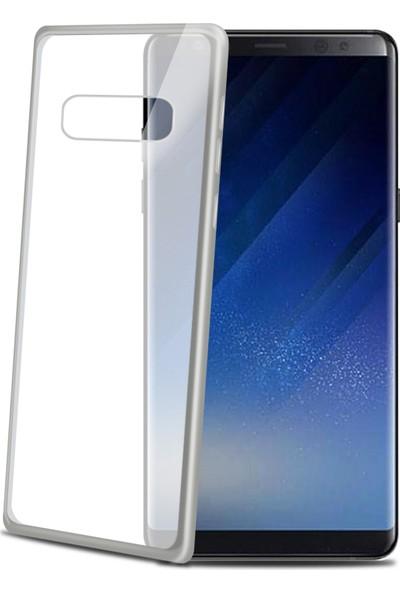 Celly Laser Matt Cover Galaxy Note 8 Gümüş Kılıf -LASERMATT674SV