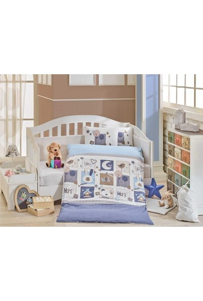 Hobby Bebek Nevresim Takımı Sweet Home Mavi