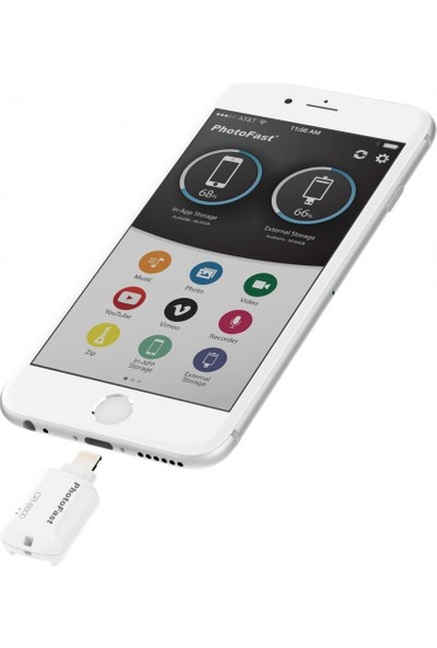 PhotoFast CR-8800 iOS MicroSD Siyah Kart Okuyucu BPF-CR8800BK
