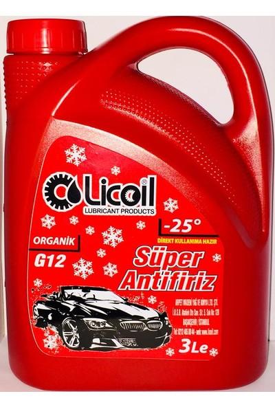 Licoil Organik Kırmızı Antifriz 3 Lt (-25 Derece)