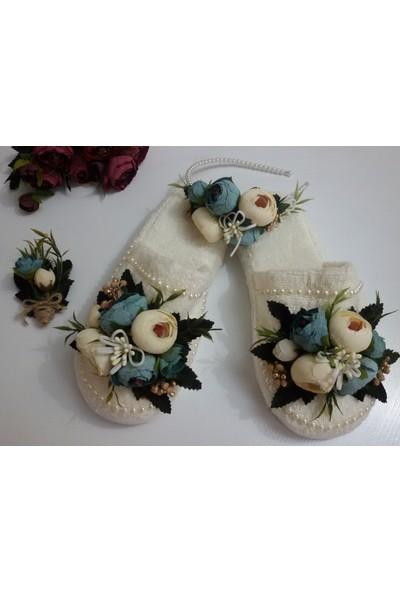 Azebu Bebe Lohusa Tacı, Lohusa Terliği ve Yaka Çiçeği Takım