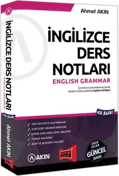 Akın Dil & Yargı Yayınları 2018 Yds Grammar İngilizce Ders Notları 48. Baskı