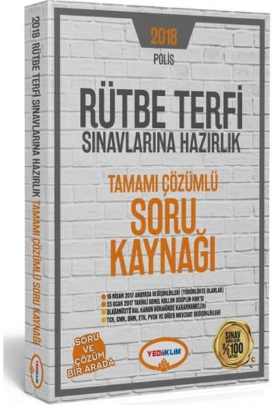 Yediiklim Yayınları 2018 Polis Rütbe Terfi Sınavlarına Hazırlık Tamamı Çözümlü Soru Kaynağı