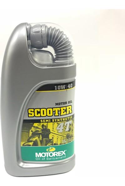 Motorex 4T Scooter Motor Yağı 10W/40 Yarı Sentetik 1Lt