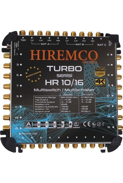 Hiremco 10/16 - 16 Çıkışlı Kaskatlı MultiSwitch Santral