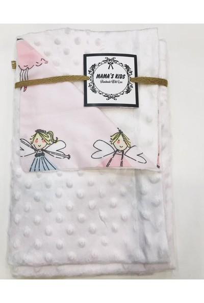Mama's Kids Minky Bebek Battaniyesi - Beyaz