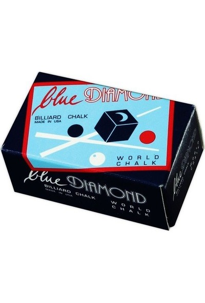 Bilardoavm Blue Diamond 2'li Bilardo Istaka Tebeşiri + Taraftar Anahtarlığı